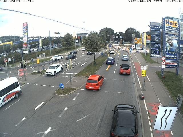 Kamera der Blaubeurer Straße mit Blick auf die Verkehrssituation nahe Blaubeurer Tor.