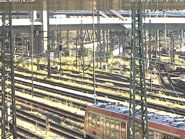 Kamera mit Blick auf den Fortschritt der Baumaßnahmen an der Neubaustrecke Stuttgart 21.